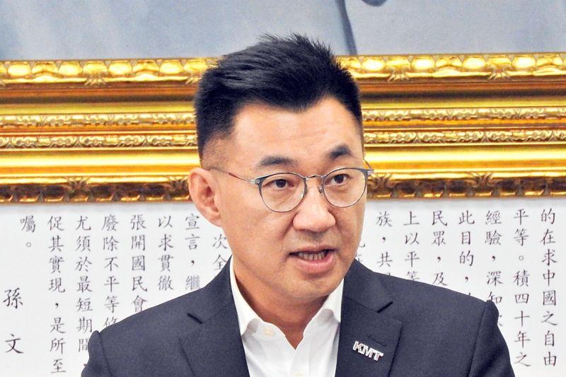 國民黨主席江啟臣26日在中常會上公開聲援馬英九,他表示「國民黨不怕當示警的烏鴉」。(圖 / 記者陳弘志攝,2020.08.26)