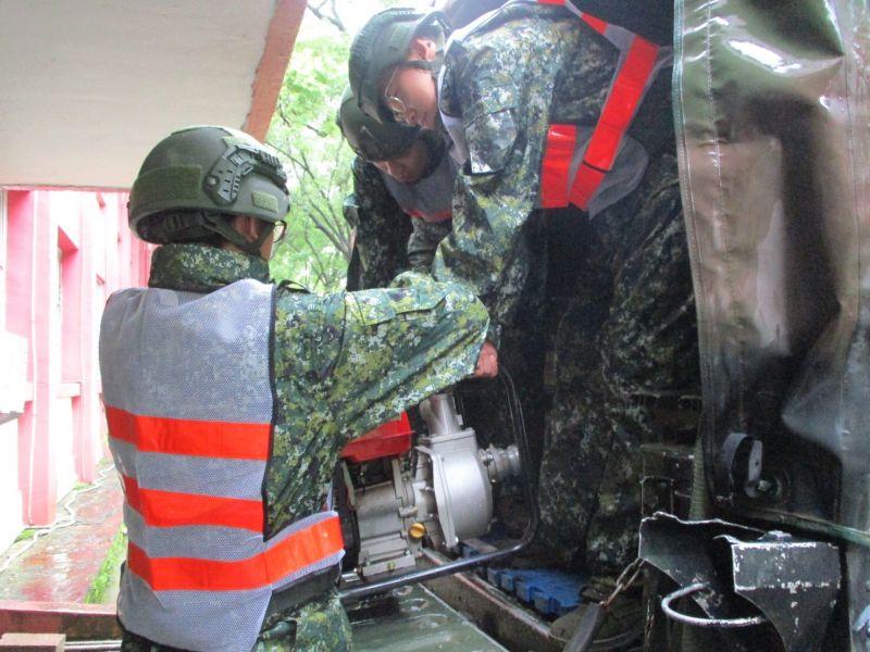 ▲救災機具整備。(圖/第四作戰區提供)