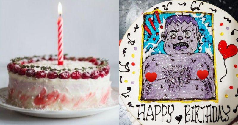 客人訂蛋糕,希望看到「可愛卡通」的角色,結果成品讓大家全笑翻。(合成圖/翻攝自Unsplash,《爆怨公社》臉書)