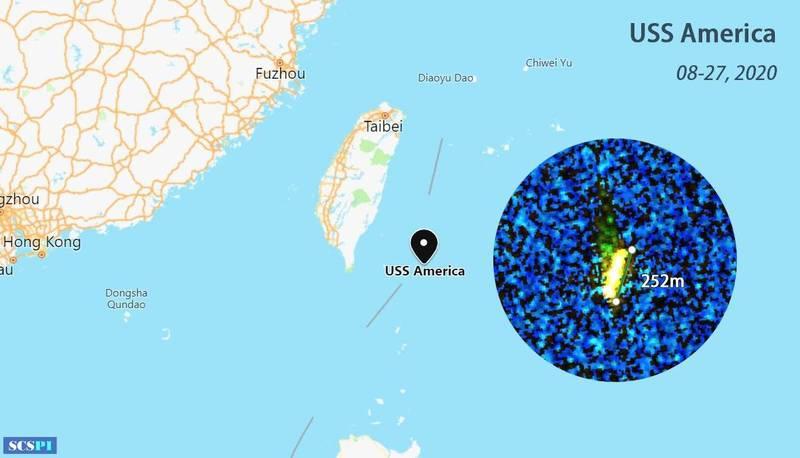 美兩棲突擊艦疑似現蹤台灣東部<b>外海</b> 中方公布衛星圖