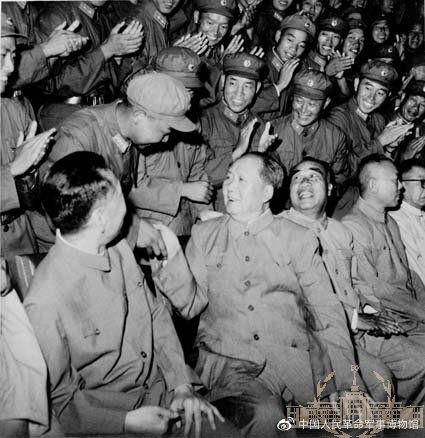 ▲毛澤東接見當時擊落美製