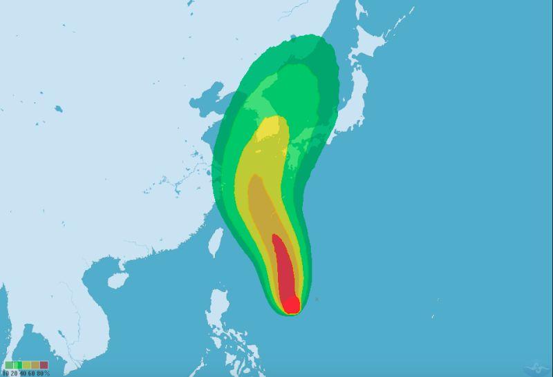 梅莎颱風增強長胖中!外圍環流明影響大台北、東半部地區