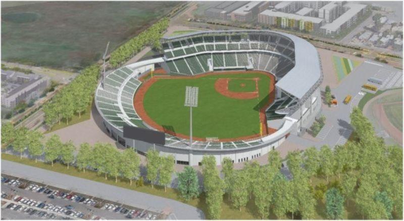 ▲台南亞太國際棒球訓練中心主球場鳥瞰圖。(圖/台南市政府提供)