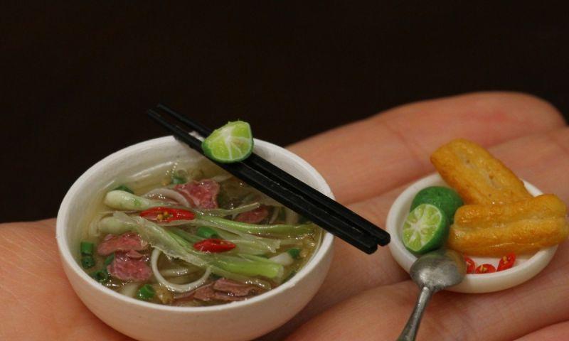 越南美食成迷你<b>模型</b>!建築系女孩巧手工藝爆紅