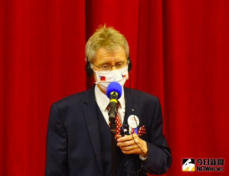 ▲捷克參議院議長韋德齊(Miloš Vystrčil)。(圖/記者呂炯昌攝.2020.08.31)