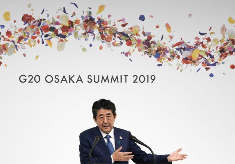 ▲安倍晉三任內日本首度主辦20國集團(G20)大阪峰會。(圖/美聯社/達志影像)