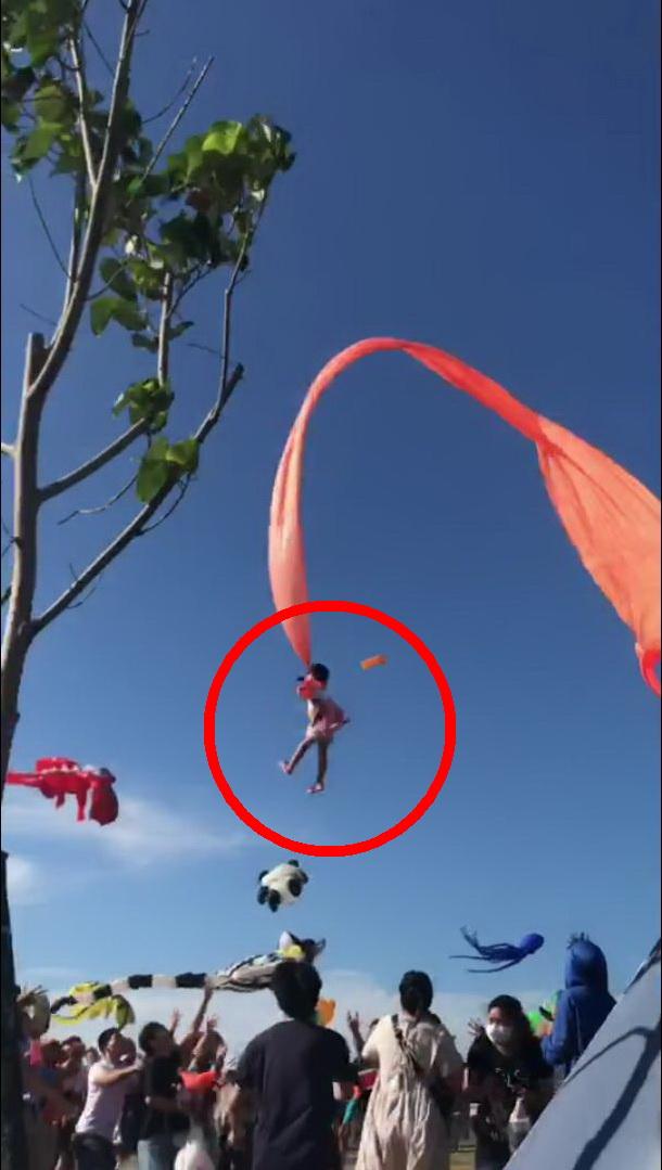 影/救命恩人曝光!女童被風箏帶上高空 緊抓不放救回