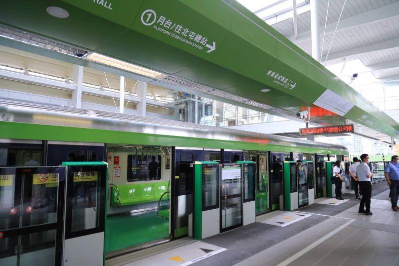 ▲台中捷運綠線日前開始試營運,有在地網友分享試乘經驗。(圖/交通局提供)