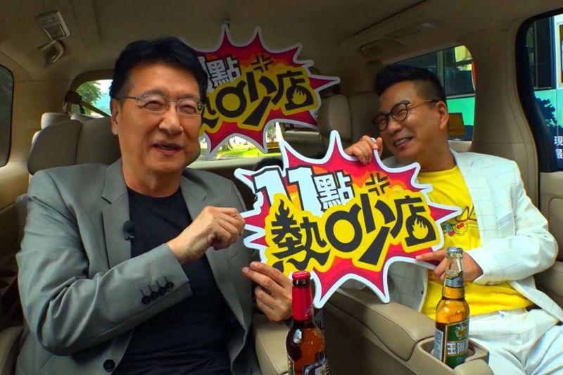 ▲趙少康(左)和沈玉琳合體拍宣傳片。(圖/TVBS提供)