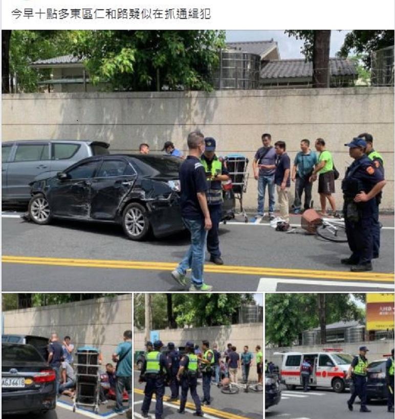 中警到台南市緝毒 毒販衝撞突圍1嫌3警掛彩