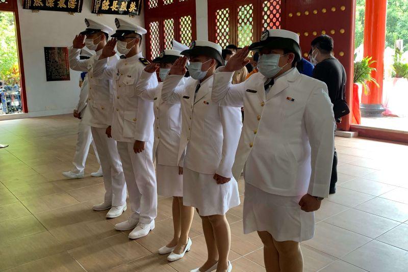 ▲海軍陸戰隊陸戰九九旅代表。(圖/記者蘇榮泉攝,2020.09.03)