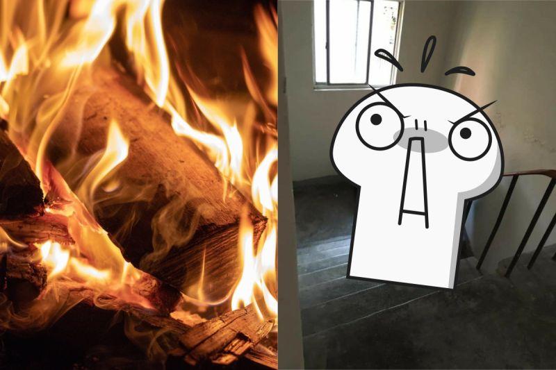 公寓「樓梯間」有燒焦味?女一開門臉綠 網喊:水潑下去