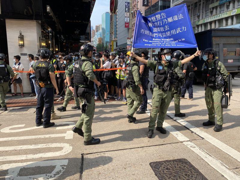 香港九龍遊行警拘捕、攔查多人 黃之鋒:無人能確保安全