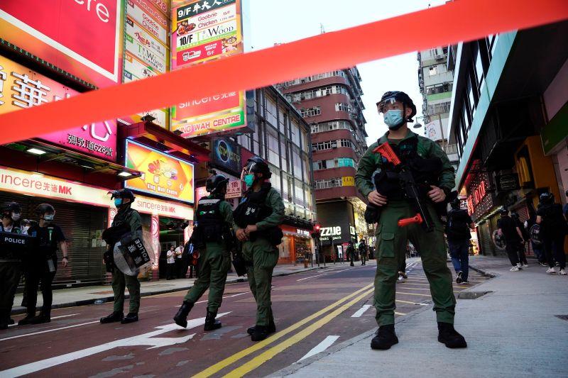 港人反國安法遊行 香港<b>中聯辦</b>:挑釁國家意志