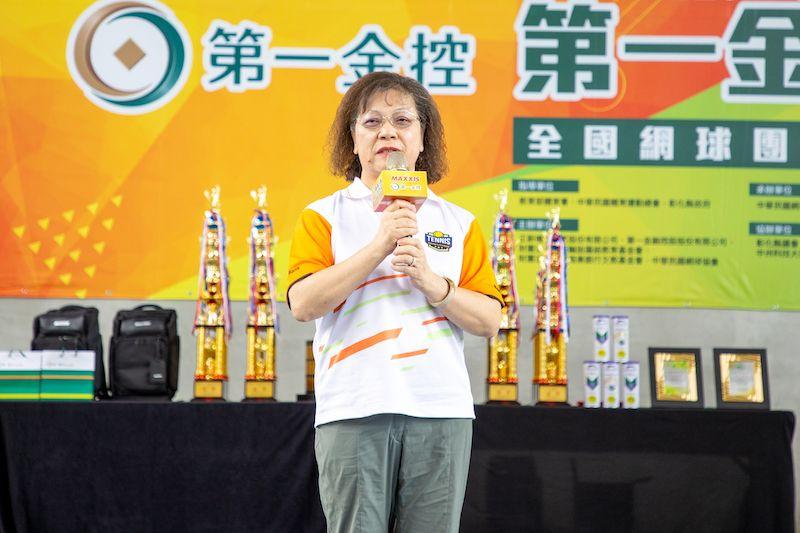 ▲第一銀行鄭美玲總經理受邀致詞(圖/海碩整合行銷提供)