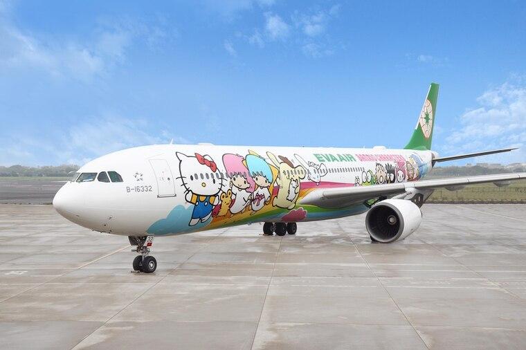 長榮航空超人氣的Hello Kitty彩繪機