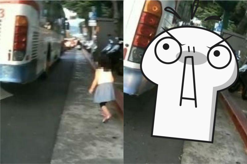 女童傻站公車輪胎旁!騎士秒衝上抱起 網讚:神反應