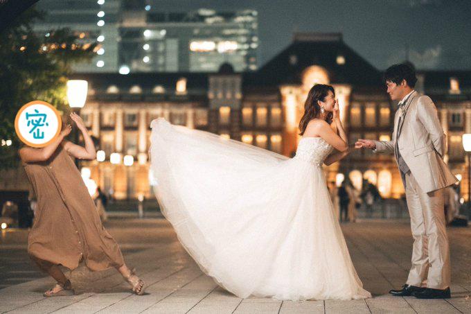 絕美婚紗照的「背後真相」曝光!40萬人笑噴:簡直是忍者