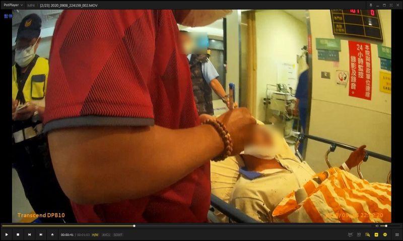 ▲員警成功協助男子就醫救回一命。(圖/記者蘇榮泉翻攝,2020.09.09)