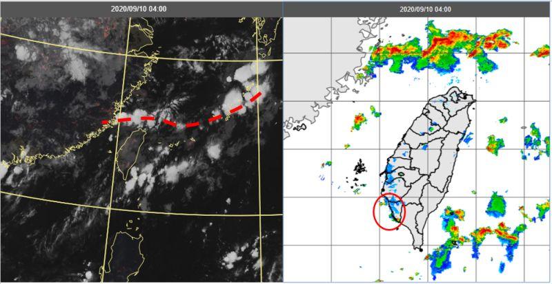 ▲根據最新(9日20時)歐洲中期預報中心(ECMWF)模式模擬顯示,今、明兩天微弱鋒面大致在北部海面徘徊,台灣在低壓環境內,水氣多、大氣不穩定。(圖/翻攝自《三立準氣象·