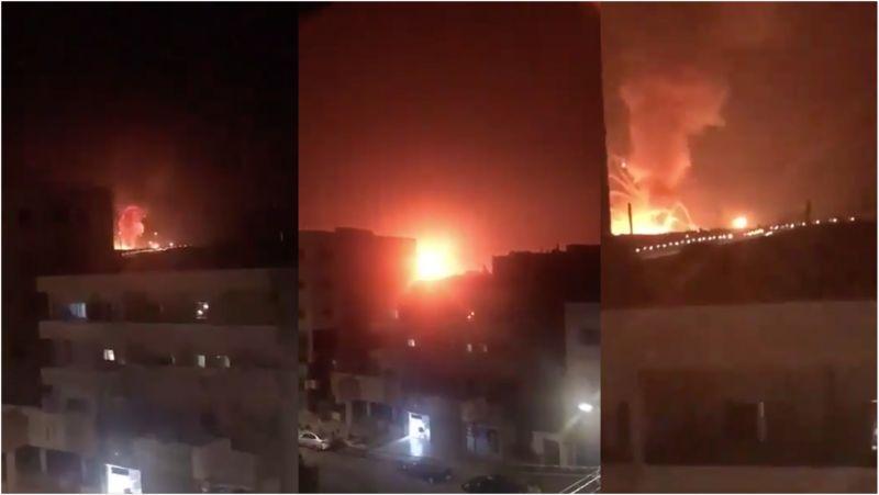 約旦首都郊區傳大爆炸!火花直竄夜空 「驚悚畫面」曝光