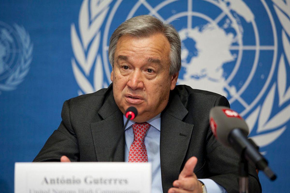 ▲聯合國秘書長古特瑞斯(Antonio Guterres)指富有國家霸占COVID-19疫苗,既不道德又愚蠢,並說不讓窮國取得疫苗,也可能損害富國本身的防疫工作。資料照。(圖/翻攝自 US Mission Geneva)