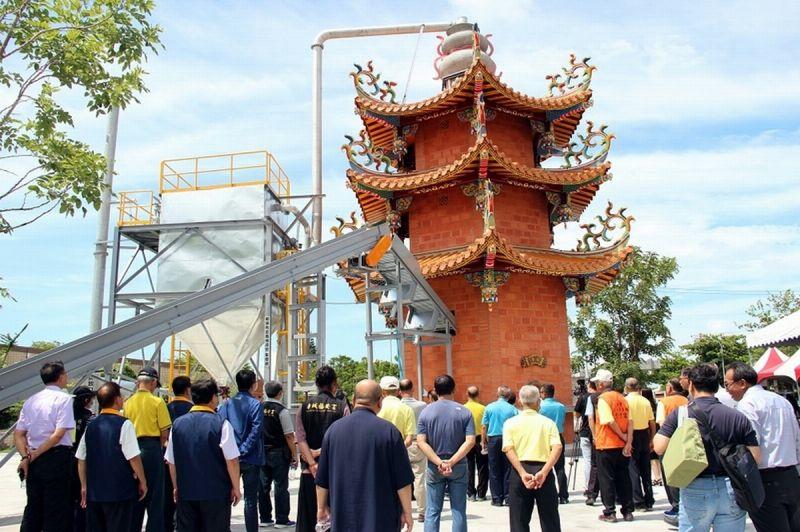 全國第一座具環保民俗意象「金屏安」環保金爐啟用