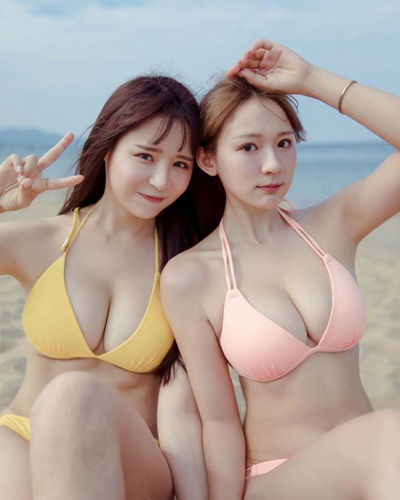 ▲元元(左)和林莎(右)私交甚篤。(圖/元元IG)