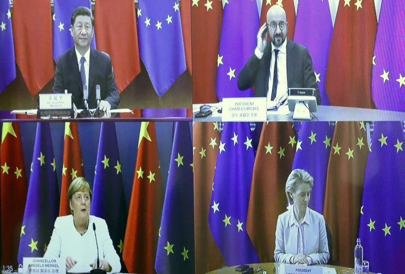 歐中領導人峰會 經貿及香港人權等議題重大分岐