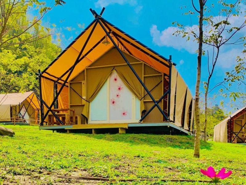 ▲ 遠山望月露營區位於寶來,是高雄公有合法露營場。(圖/高市觀光局提供)