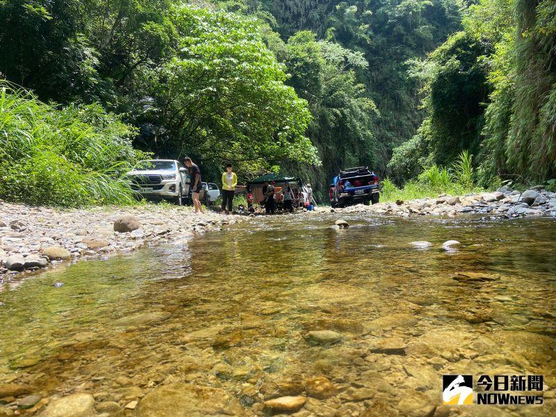 ▲武界部落美景近年來被視為祕境,吸引不少露營客,彰化沒有水庫的野溪秘境。(民眾提供