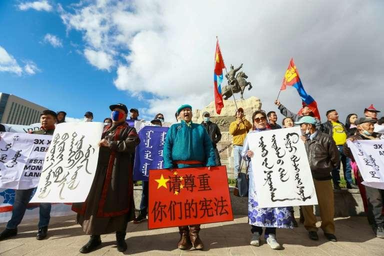 內蒙強推漢語教材 蒙古國首都百人抗議<b>王毅</b>到訪