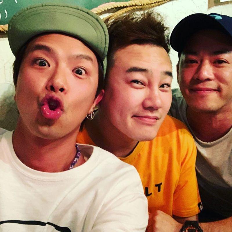 ▲小鬼(左起)、綠茶、Junior有革命情感。(圖/林埈永IG)