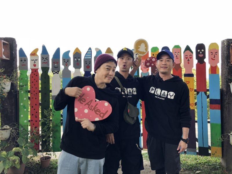 ▲小鬼(左起)、綠茶、Junior。(圖/Junior臉書)