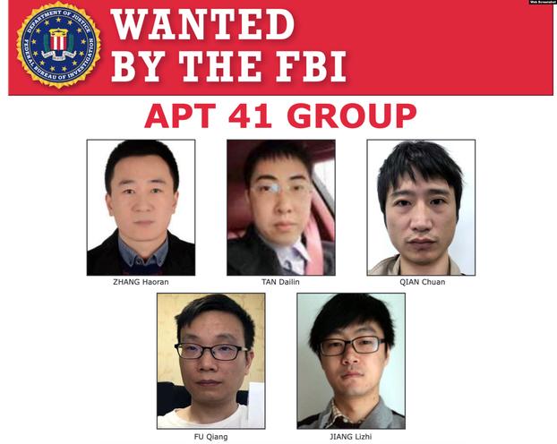 美國起訴5名<b>中國駭客</b>竊密全球!台灣有大學6萬人個資外洩