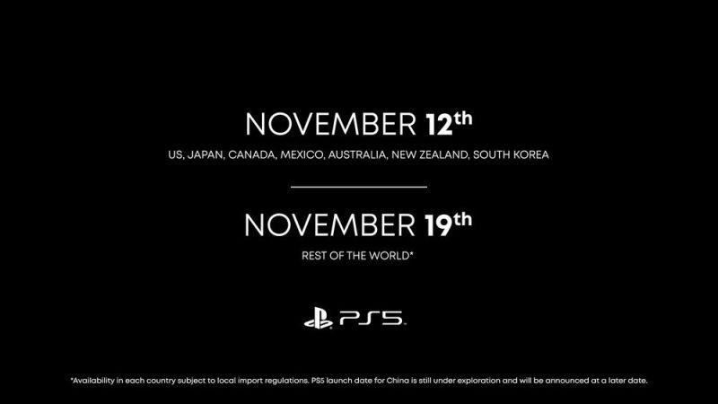 ▲眼尖網友發現,在PS5的發售日期上面,底下小小的字寫著,「中國上市日期未定」。(圖/翻攝自《PlayStation