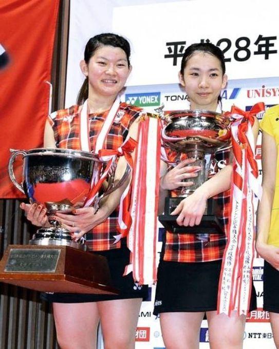 ▲2016年里約奧運女雙金牌、日本「鬆糕組合」高橋禮華、松友美佐紀。(圖/取自松友美佐紀Instagram)