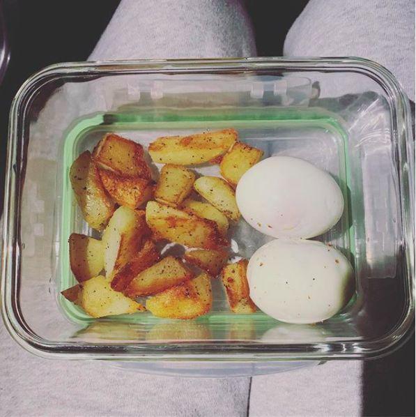 ▲楊謹華澱粉改吃馬鈴薯。(圖/翻攝自IG@cheryllovel0ve)