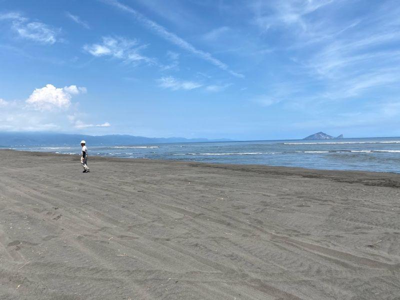 ▲壯圍海灘難得這麼乾淨。(圖/記者李清貴攝,2020.09.18)