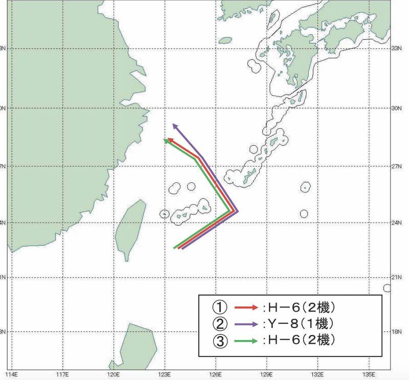 ▲日本防衛省定期公佈共軍機艦穿越周邊海空域的照片與航跡圖,除軍事用途外也可以收安定民心之效。(圖/翻攝自日本防衛省)