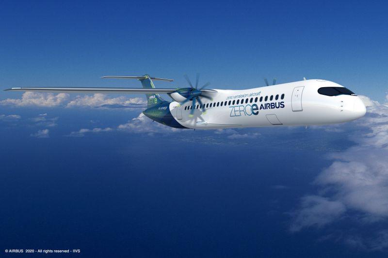 ▲以渦輪螺旋槳設計客機,最多可搭載
