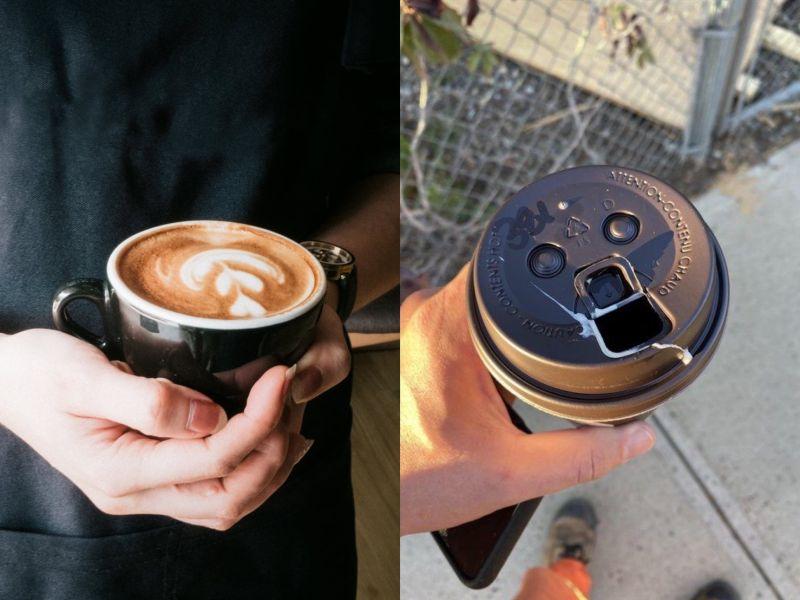 太好運?手拿咖啡竟灑出白色液體 「暗黑真相」網全笑歪