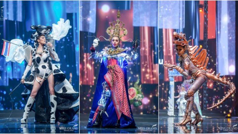 泰國選美走秀服裝超奇葩!網友笑翻:設計師還好嗎?