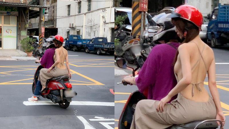 新莊驚見「白皙美背妹」露側峰 本尊為癱瘓交通道歉