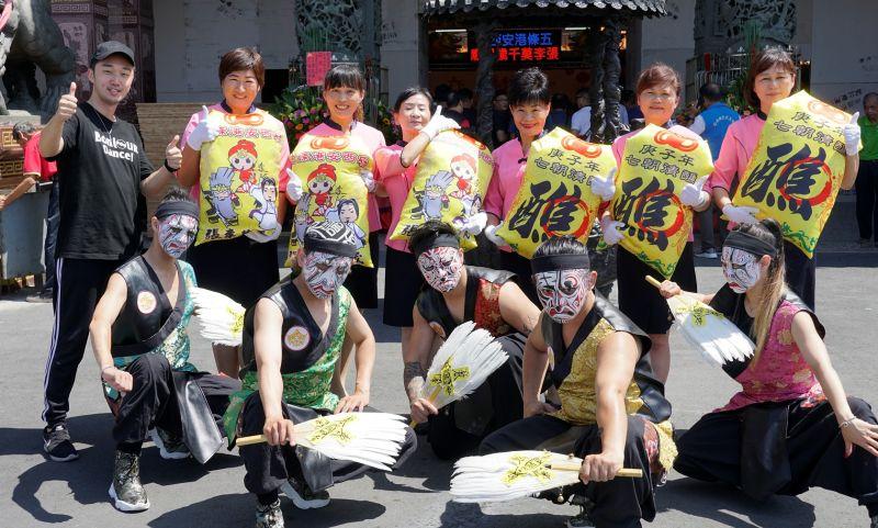 ▲鑑醮期間連續九天安排精彩的表演節目。(圖/記者蘇榮泉攝,2020.09.22)