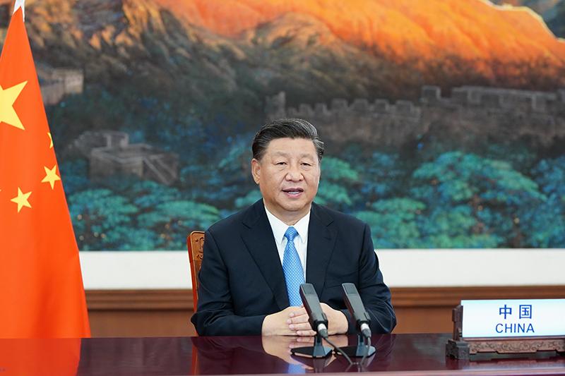 ▲中國國家主席習近平在第 75 屆聯合國大會一般性辯論上發表演說。(圖/翻攝自新華社)