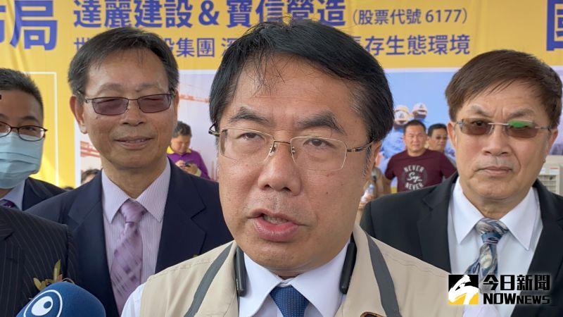 ▲黃偉哲表示,台南高鐵特區未來前景深具潛力。(圖/記者陳聖璋攝,2020.09.23)