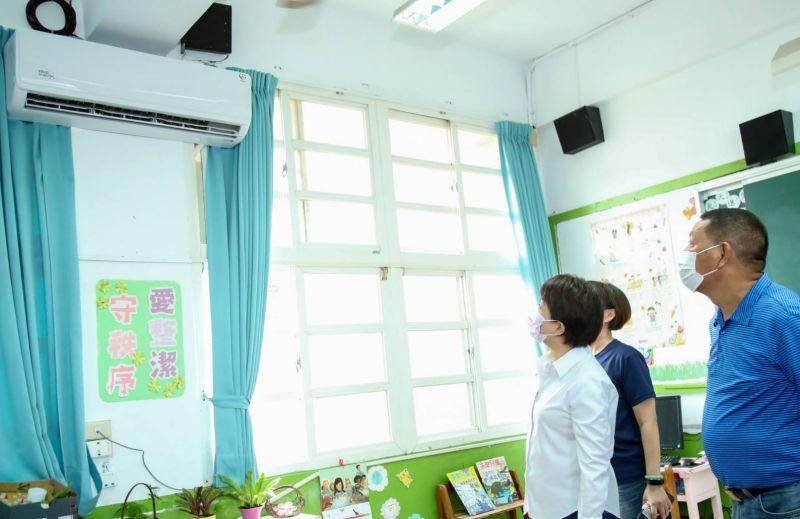 甲安埔學生好幸福  盧秀燕宣布年底冷氣安裝完畢