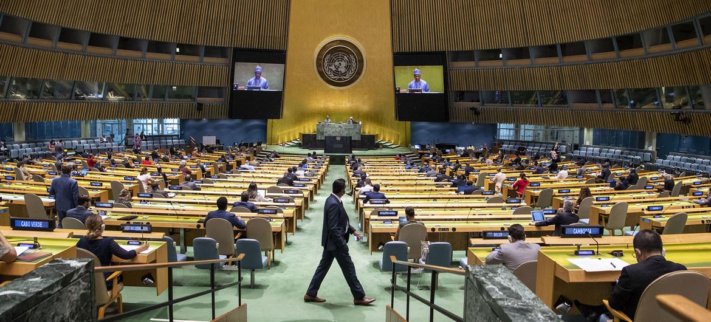 ▲聯合國大會在聯合國總部開議,今年共計13國為台灣仗義執言。(圖/聯合國網站)