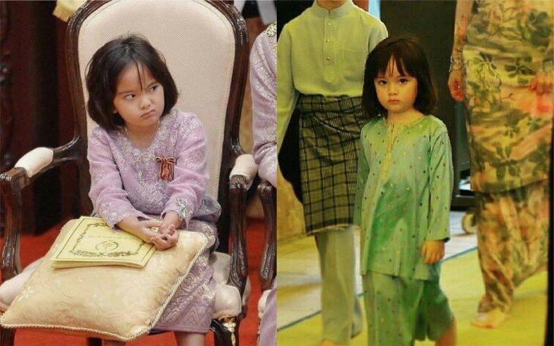 九歲馬國皇室小公主爆紅!「厭世<b>萌照</b>」笑翻網友